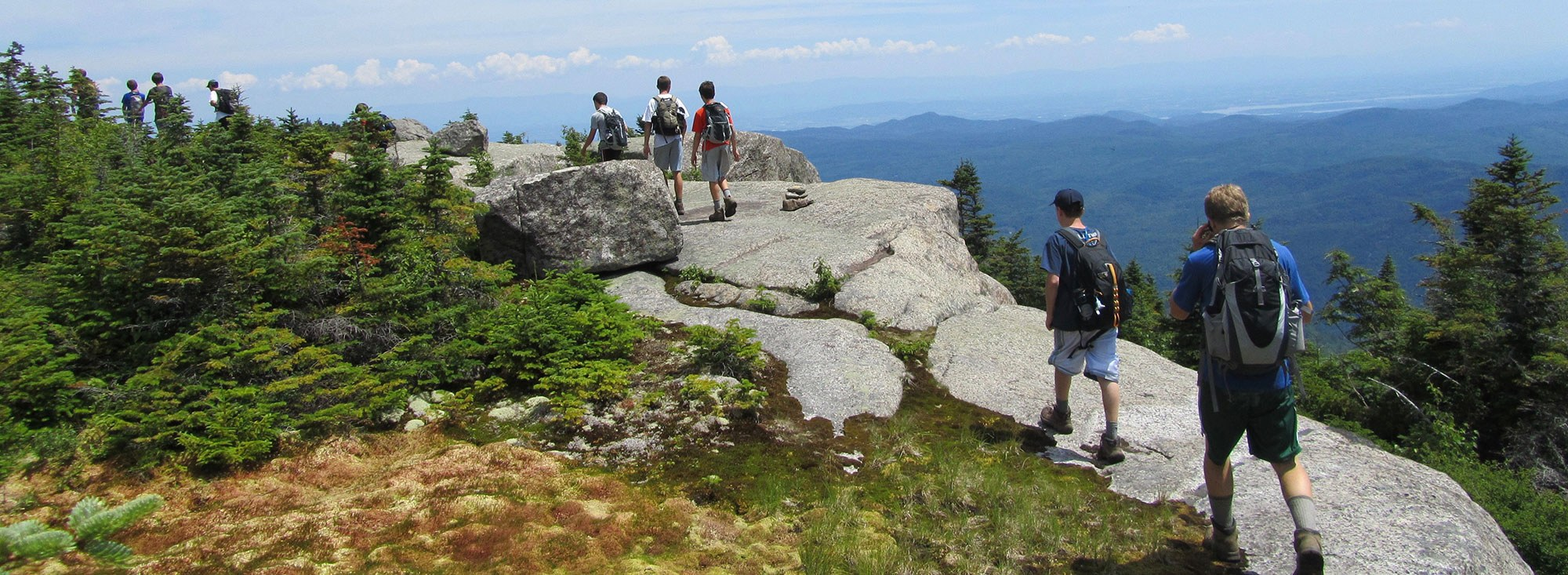 NCC Campers Hiking Mountain Ridge